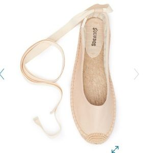 🆕 SOLUDOS TIE UP BALLET FLATS - NUDE COLOR